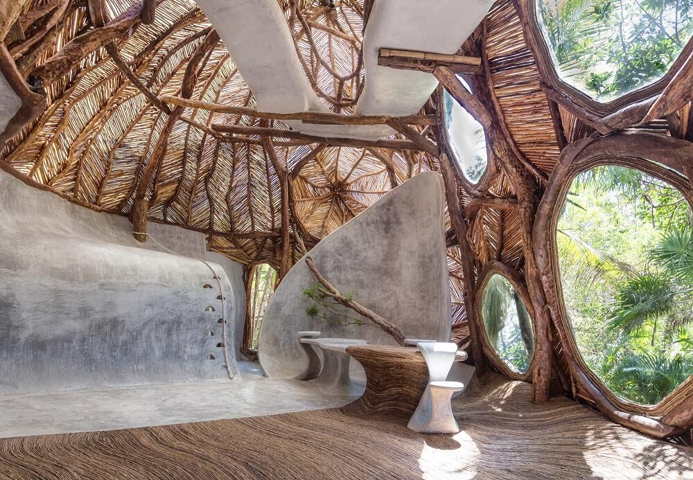 La nueva galería Eco-Inspired presenta el arte contemporáneo dentro de un espacio expositivo cubierto de vid