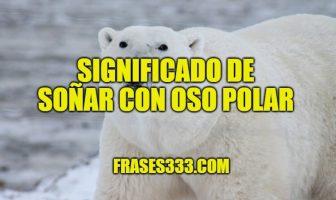 Significado de Soñar con Oso Polar