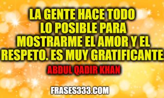 Frases de Abdul Qadir Khan