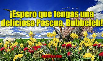 ¡Espero que tengas una deliciosa Pascua, Bubbeleh!