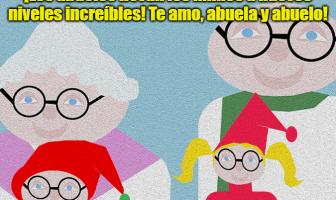 ¡Los abuelos llevan los mimos a nuevos niveles increíbles! Te amo, abuela y abuelo!