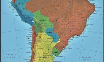 América del Sur mapa