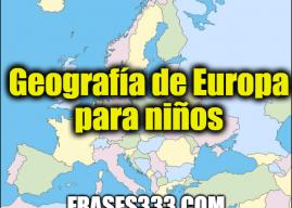 Geografía de Europa para niños
