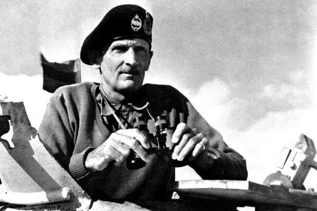Imagen de Bernard Montgomery en el norte de África en 1942.