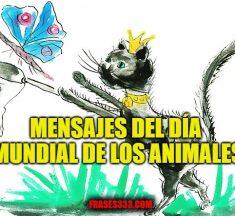 Feliz Día Mundial de los Animales, saludos, mensajes de póster y deseos