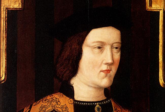 Edward IV c.1520, retrato póstumo del original c. 1470-75. Su muerte en 1483 le causó grandes problemas a Cecily.