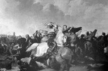 Richard III y Henry Tudor se enfrentan en una batalla, prominentemente en el centro. La sorpresiva victoria de Henry fue una buena noticia para la fortuna de Cecily y Thomas.