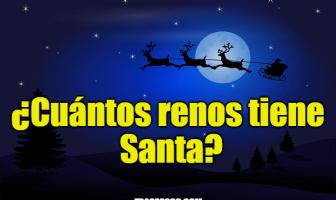 ¿Cuántos renos tiene Santa?