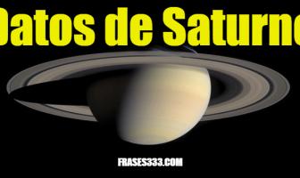 Datos de Saturno - Datos interesantes sobre el planeta Saturno