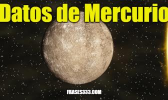 Datos de Mercurio - Datos interesantes sobre el planeta Mercurio