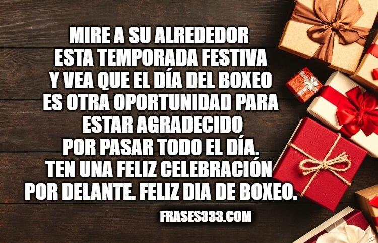 Felices del Día del Boxeo