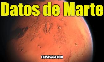 Datos de Marte - Datos interesantes sobre el planeta Marte