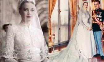 El vestido de novia de Grace Kelly podría ser el vestido de boda más popular de nuestro tiempo y que también pudo haber inspirado el vestido de Kate Middleton cuando se casó con el Príncipe William en 2011