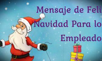 Mensaje de feliz Navidad para los empleados