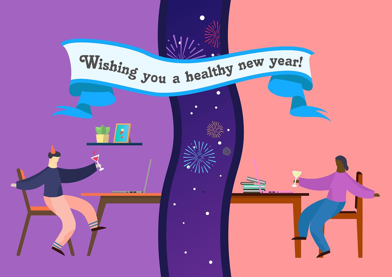 Mensaje de año nuevo a los empleados del jefe