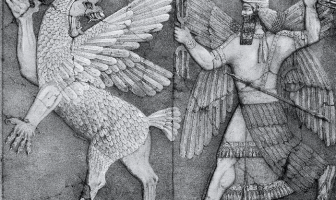 Dios sumerio de la tierra y el aire hechos de Enlil